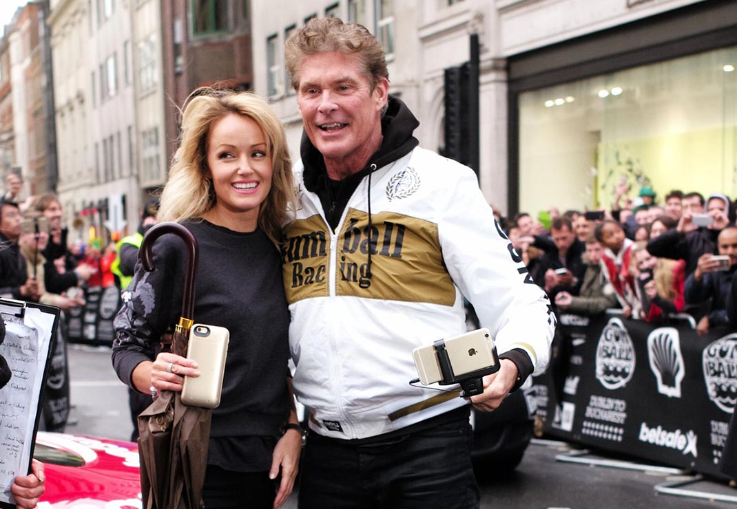 David Hasselhoff in Hayley Roberts