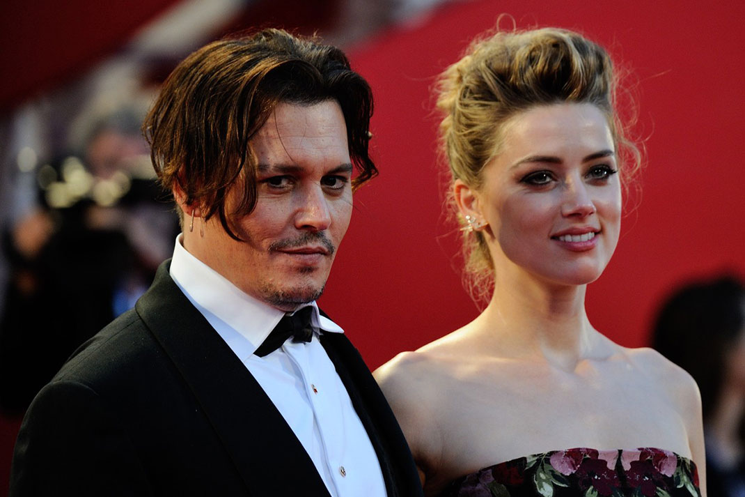 Johnny Depp in Amber Heard